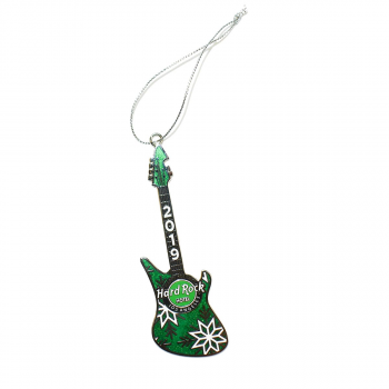 Green Guitar Ornament 2019