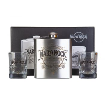Guitar Co Pub Flask and Shot Set
