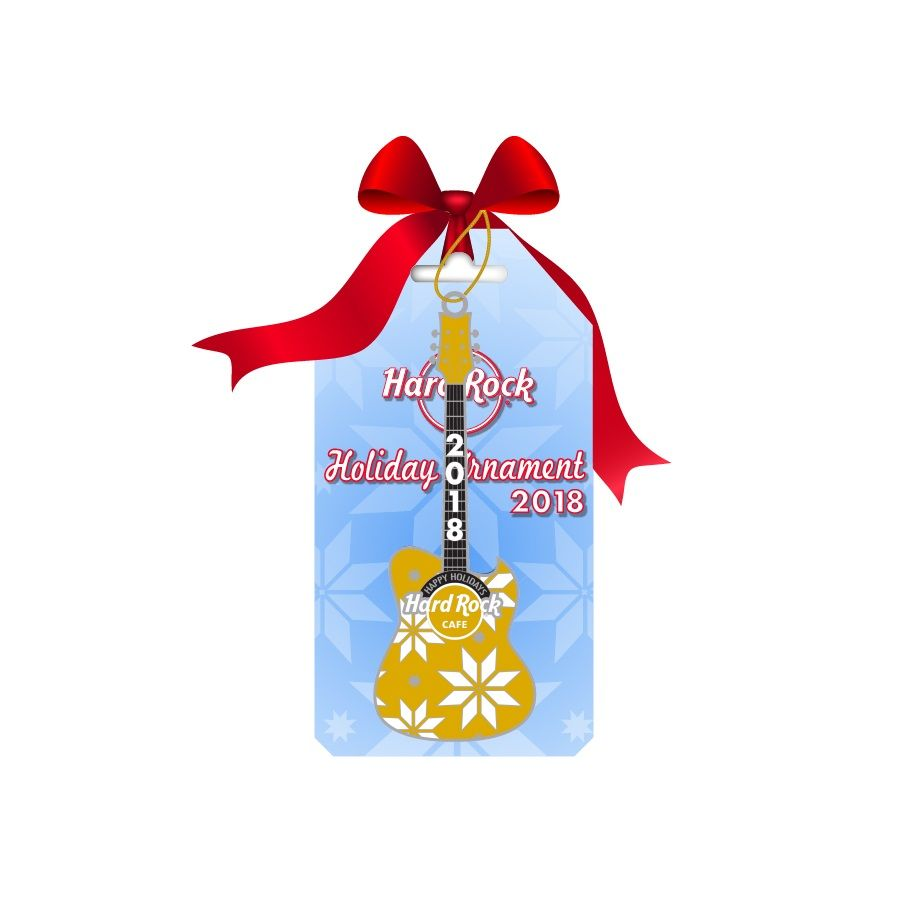Yellow Guitar Ornament 2018