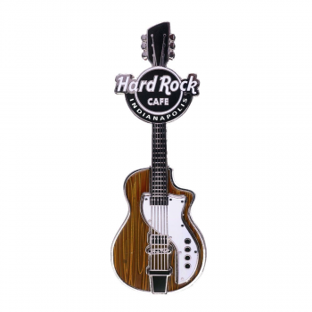 Woodgrain Retro Guitar Magnet