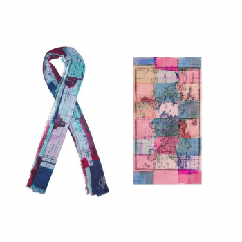Map Print Scarf Multicolor