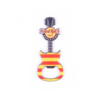 Flag Guitar Bottle Opener Magnet