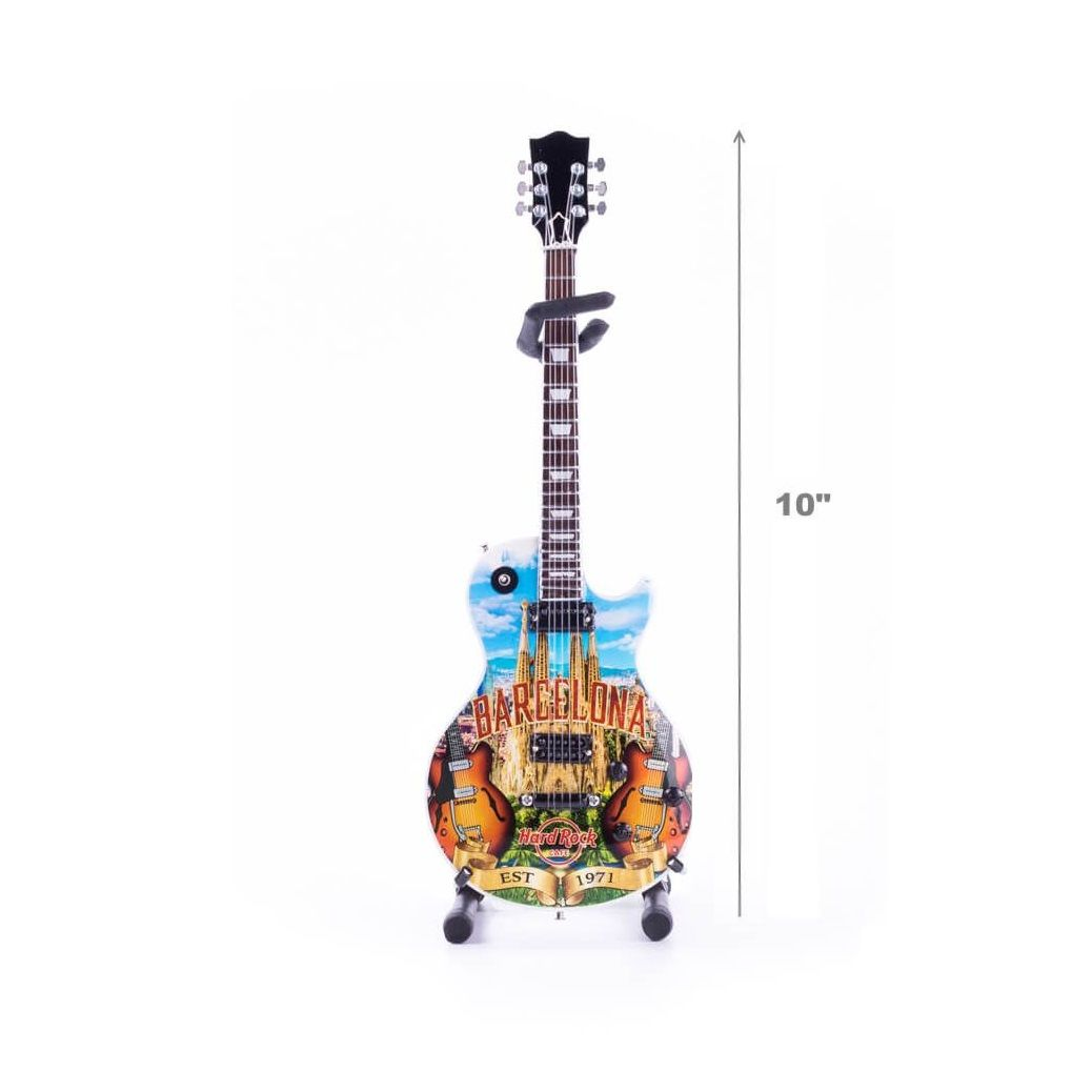 """10"""" Mini City Art Guitar with Stand"""