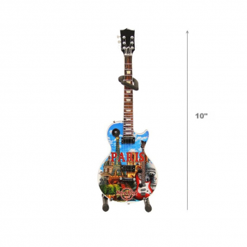 "10"" Mini City Art Guitar with Stand"