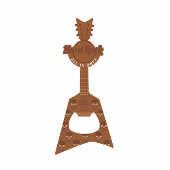 V Guitar Bottle Opener Magnet