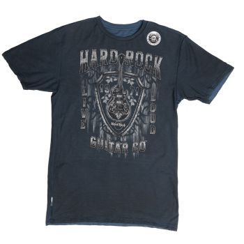 Mens GtrCo Reversible Shield Tee Navy Blk