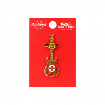 Red Cross Guitar Pin