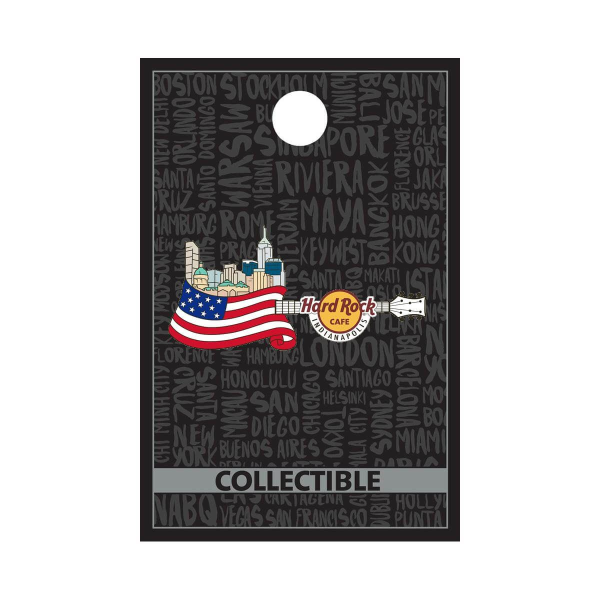 Core Flag Over City Guitar Pin