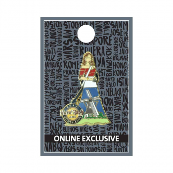Netherlands Cityscape Gown Pin