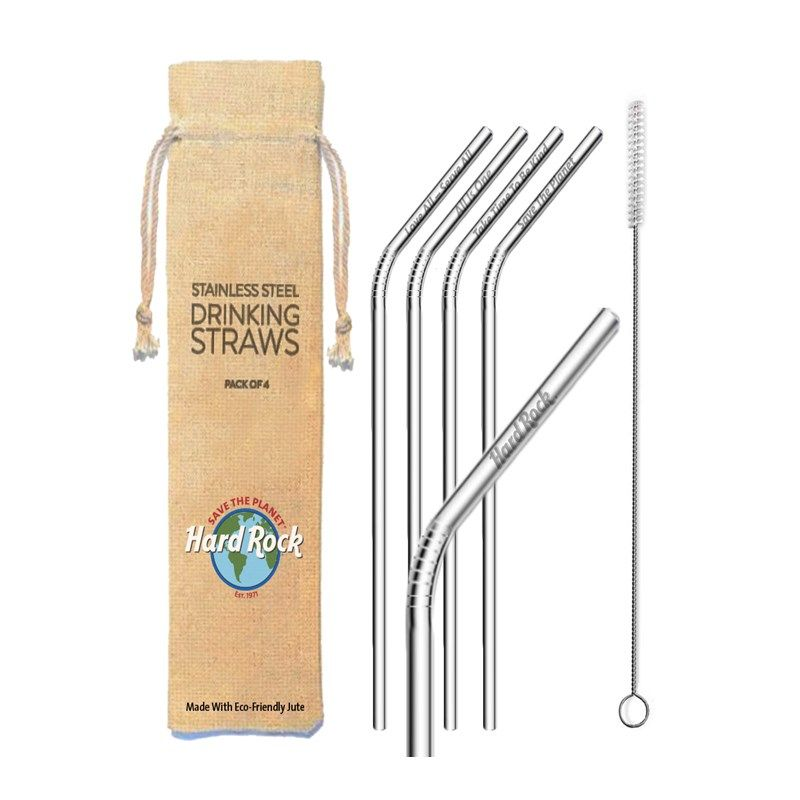 Save the Planet Stainless Steel Straw Set