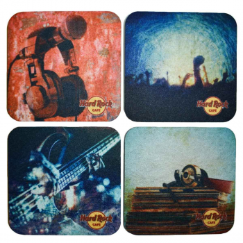 Four Coaster Set Music Themes