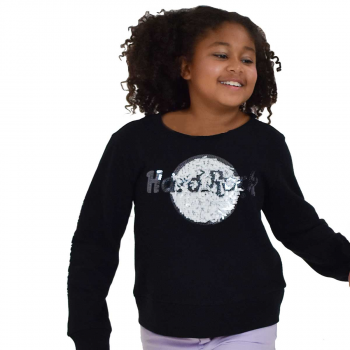 Girl's Sequin Logo Sweatshirt