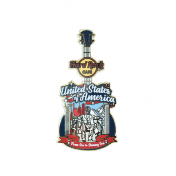 Country Guitar Pin USA