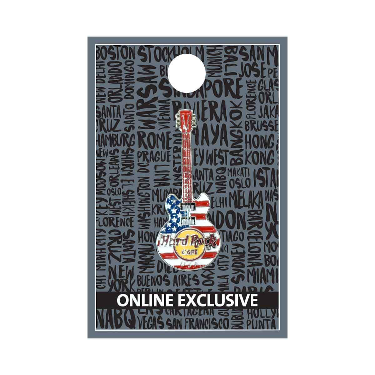 USA 3D Flag Guitar Pin
