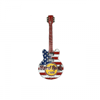3D Flag Guitar Pin USA