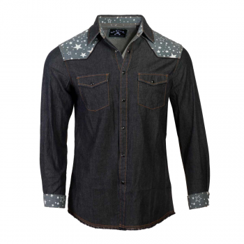 Men's Rock Roll 'n Soul Starry Night Denim Shirt