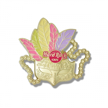 3D Mardi Gras Mask Pin 2020