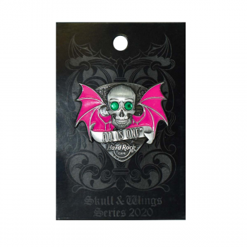 3D Skull With Wings Global Pin Series