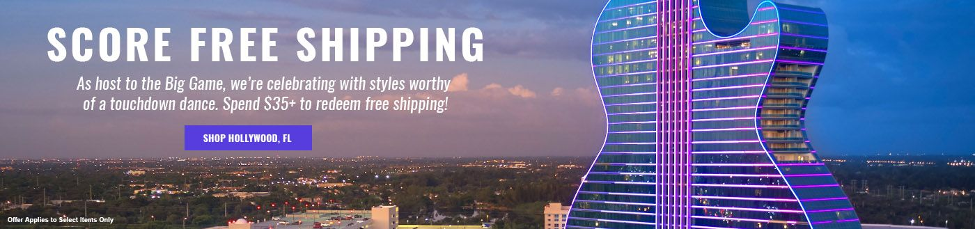Hard Rock Hollywood, FL Free Shipping Offer