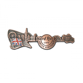 3D Skyline Guitar Country Pin UK