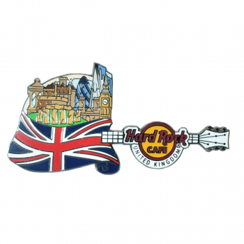 Flag Over Country Pin UK