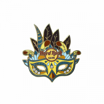 Carnival Rhinestone Mask Pin Blue