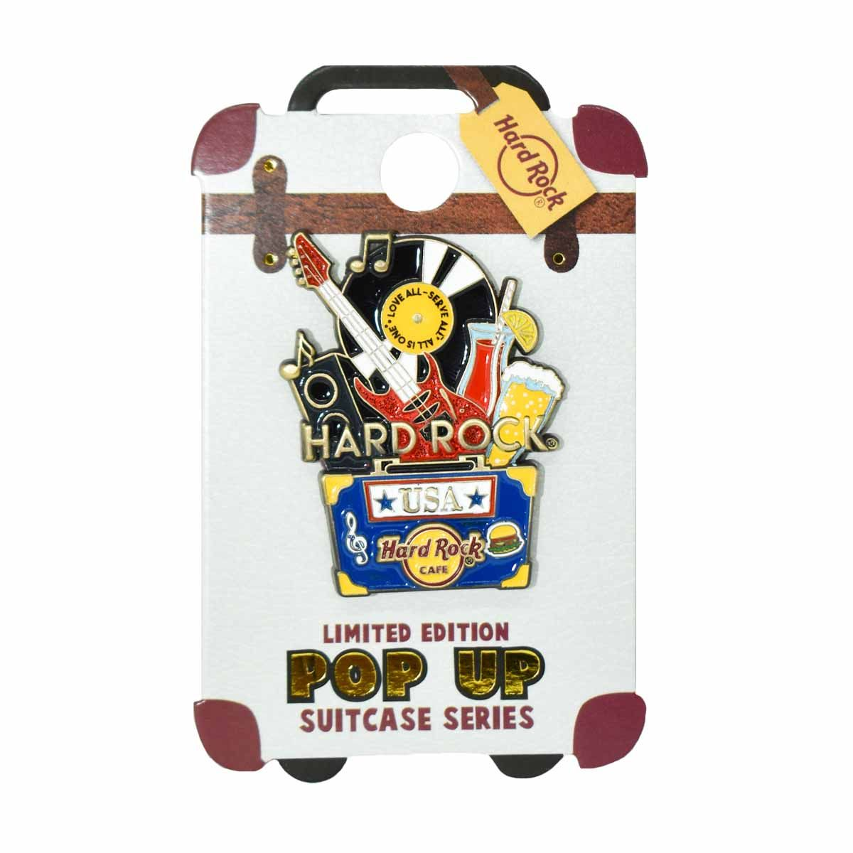Pop Up Suitcase Pin USA
