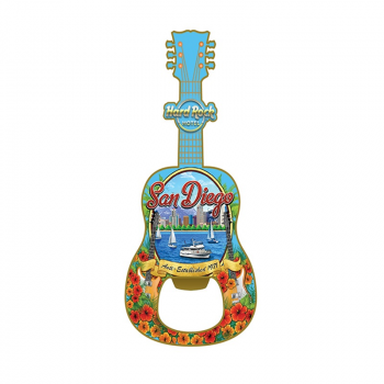 US Guitar Bottle Opener Magnet