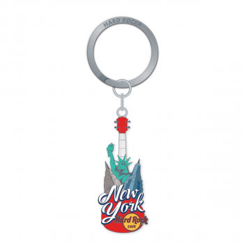 City Icon Guitar Keychain