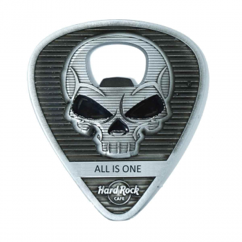 Skull Guitar Pick Bottle Opener Magnet