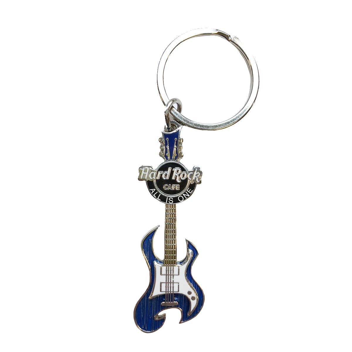 Gloss Grained Guitar Keychain