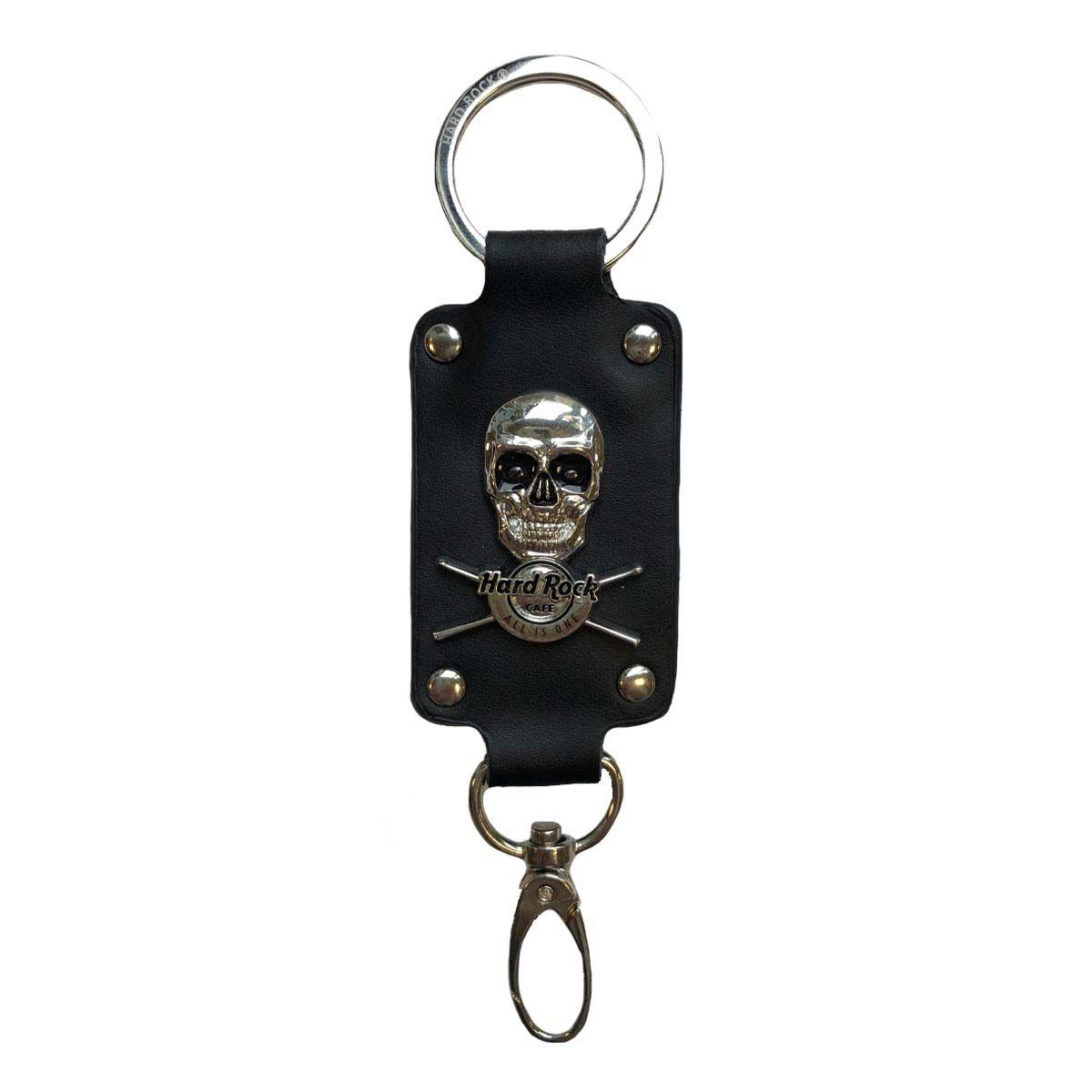 Skull Leather Keychain