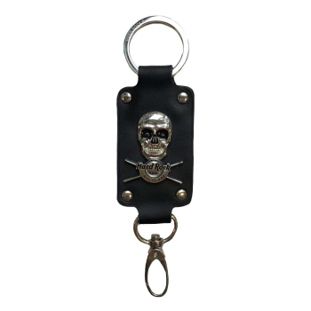 Skull and Drumsticks Keychain