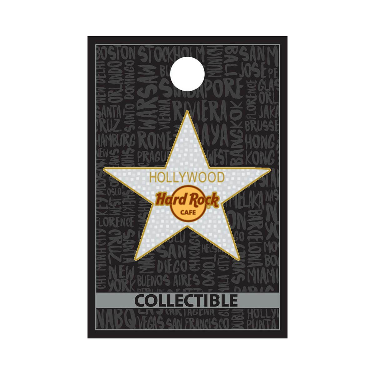 Hollywood Star Logo Pin
