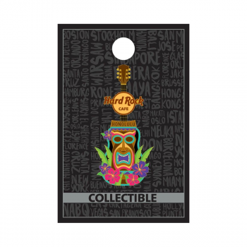 Honolulu Tiki Guitar Pin