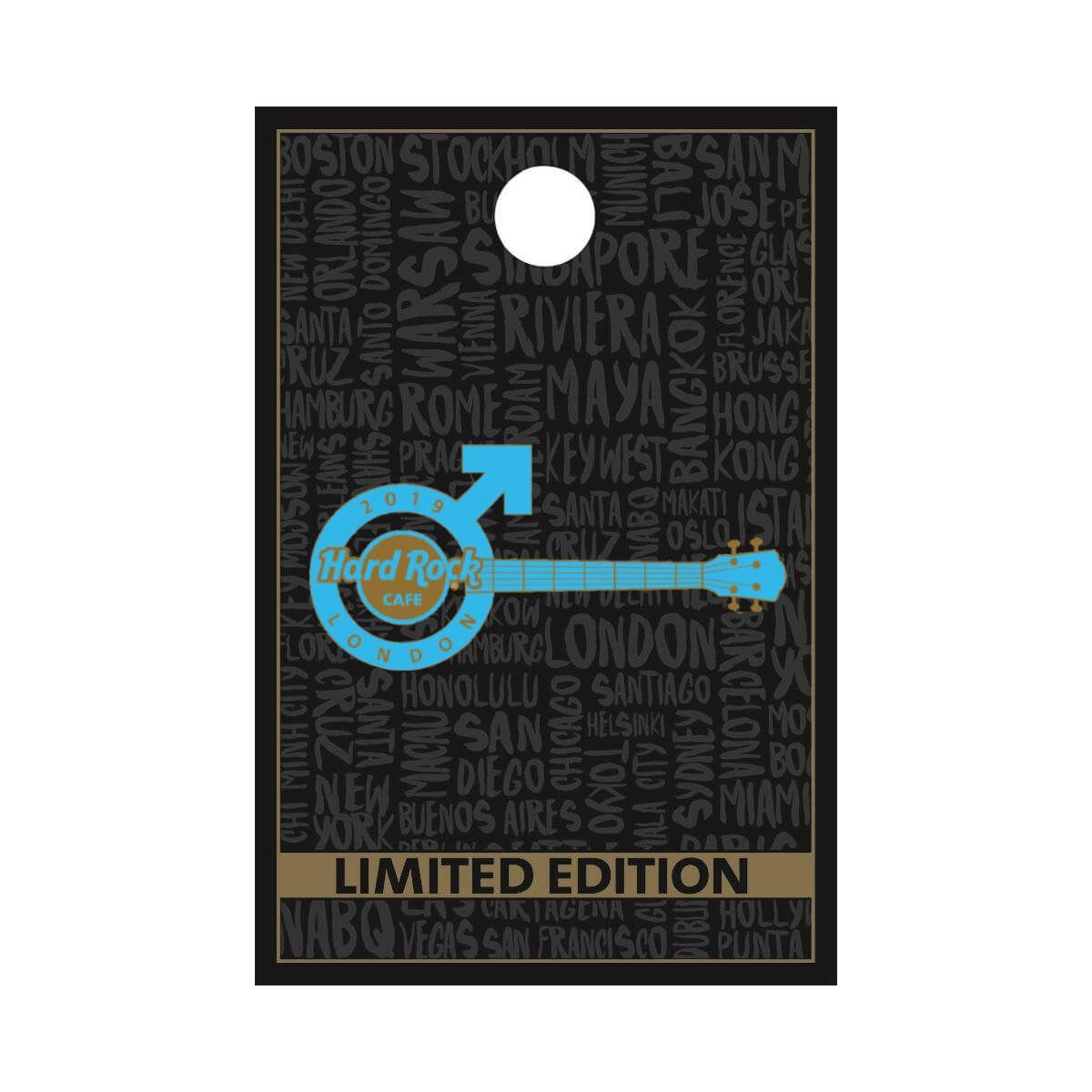 London Male Guitar Pin