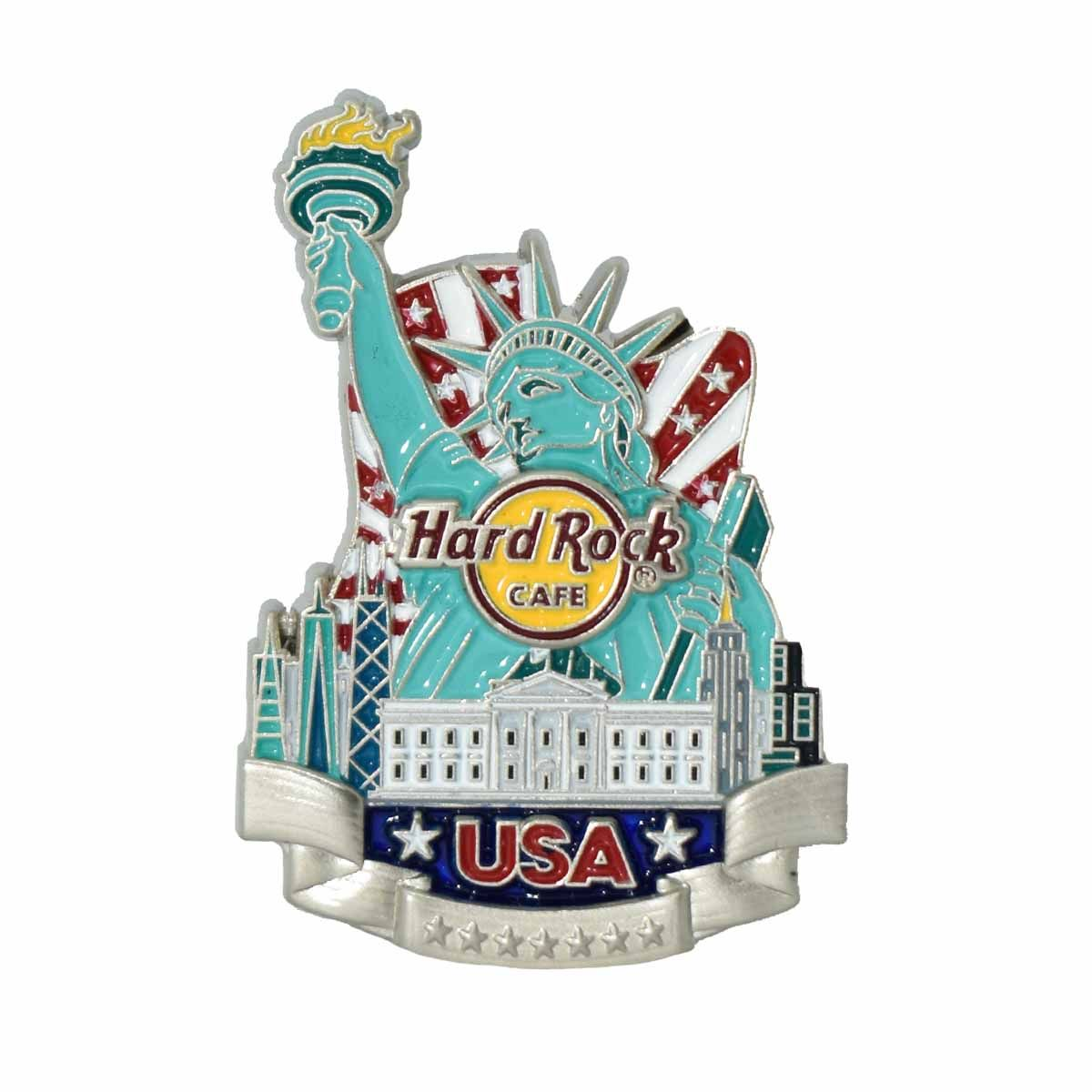 3D Country Icon Pin USA