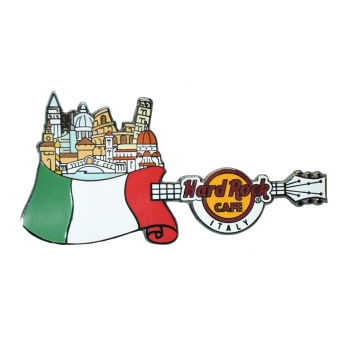 Flag Over Country Pin Italy