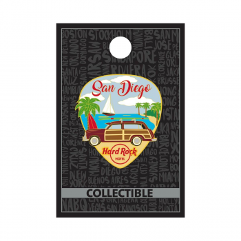 San Diego Hotel Vintage Car Guitar Pick Pin