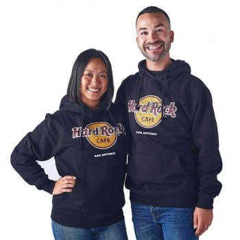 Unisex Classic Logo Pullover Hoodie Black