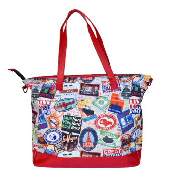 Large Passport Print Tote
