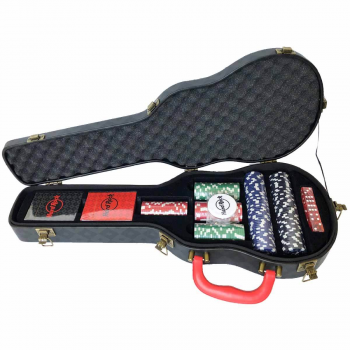 Guitar Case Poker Set