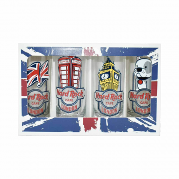 Union Jack 4 Pack Shot Glass Set