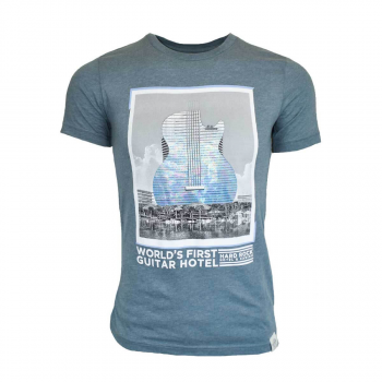 Men's Guitar Hotel Tee Blue