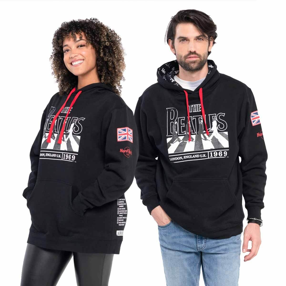 Unisex Beatles Abbey Road Hoodie Black