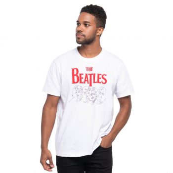 Men's The Beatles Line Art Tee