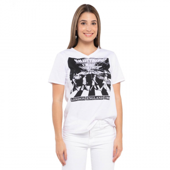 Women's The Beatles V Neck Tee