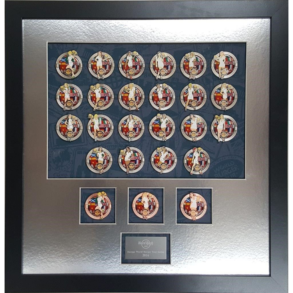 2016 Europe World Burger Pin Series Frame Set