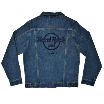 Unisex Raised Logo Denim Jacket with Repreve
