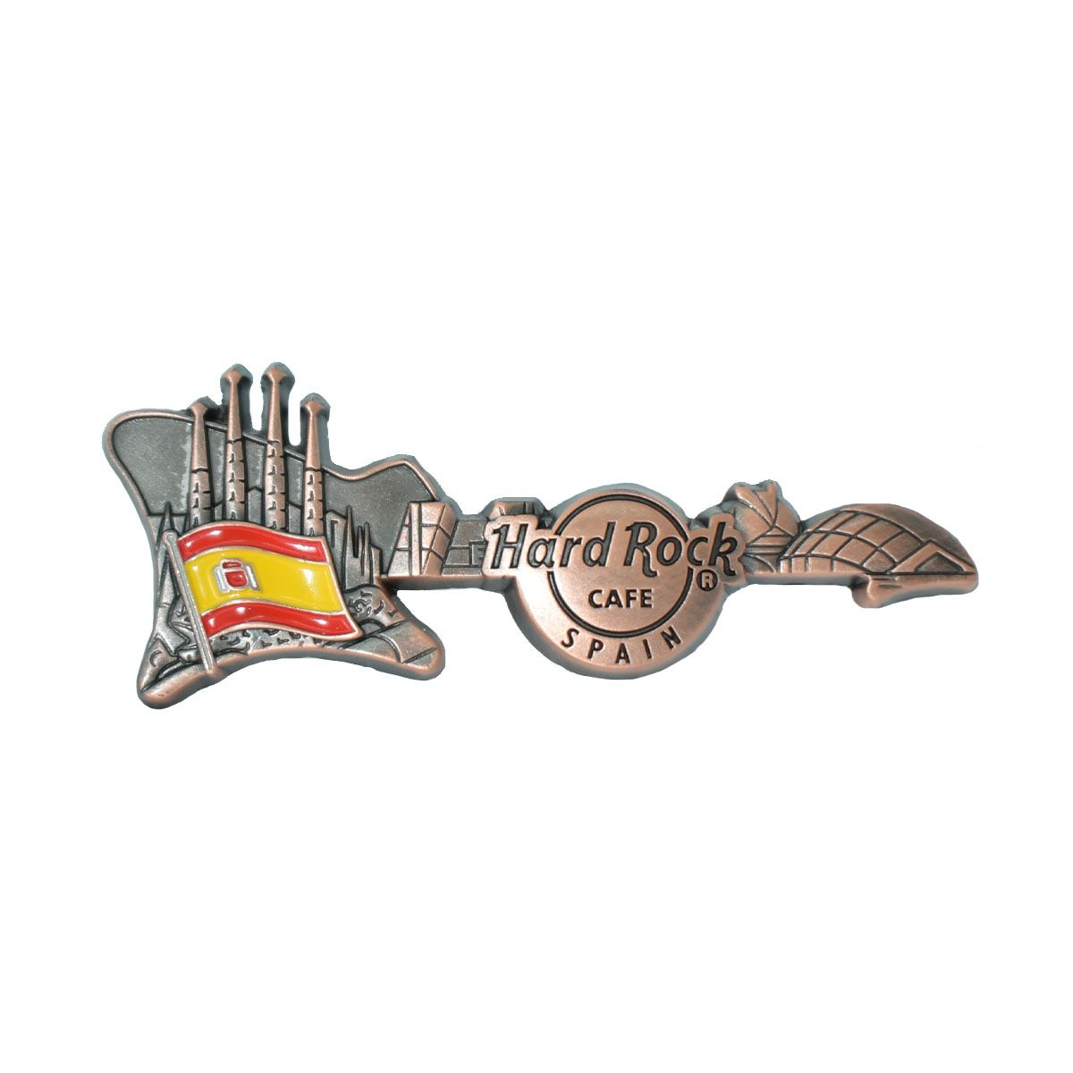 3D Skyline Guitar Country Pin Spain